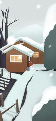 snow winter winter solstice traditional solar terms , Houses, Winter Solstice Background, Winter Solstice Imagem de fundo