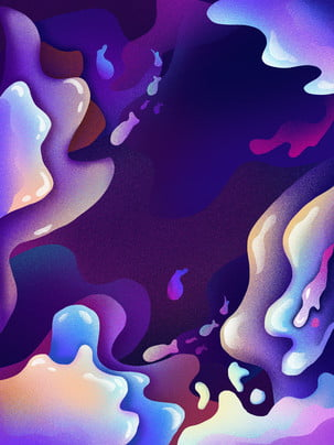 colorful purple liquid cartoon , Colorful, Color, Cartoon Hintergrundbild