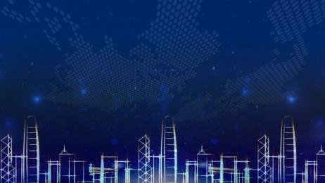 bảng nền đơn giản công ty công nghệ bảng công ty tiệc trao giải, Màu Xanh, Trao, Tài Ảnh nền