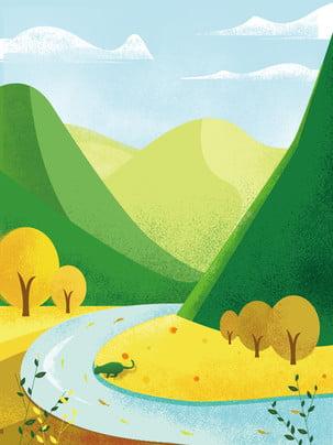 advertising background fresh mountain mountain , Cloud, Lake, Mountain ภาพพื้นหลัง