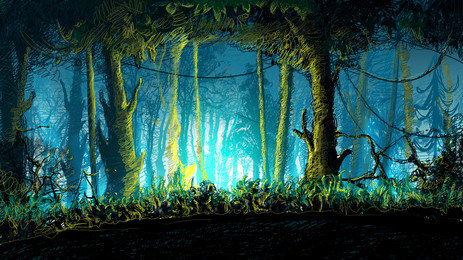green forest dream forest fairy forest background glowing forest, Dream Forest, Forest, Fairy Imagem de fundo