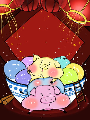 Festive background red background pig year background creative background Pig Year Background Imagem Do Plano De Fundo