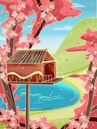 Hoa cabin ảnh phòng thu nền phim hoạt hình trẻ em nền hình ảnh lớn phim hoạt hình hoa nền studio cỏ xanh Hoa Cabin ảnh Hình Nền