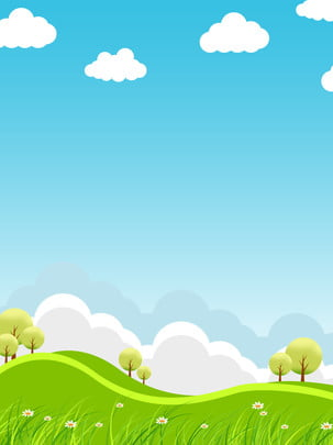 blue sky white clouds green space grass , Hillside, Blue Sky, Green ภาพพื้นหลัง