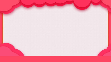 シンプル 手描き オレンジピンク レース, 新鮮なオレンジピンククラウドサイド広告鼻橋, フレッシュ, クラウドエッジ 背景画像