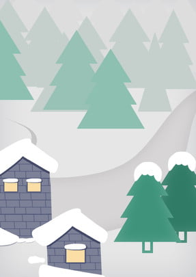 fresh romantic snowy holiday house background , Landscape, Snowy Festival, Light Snow Background image