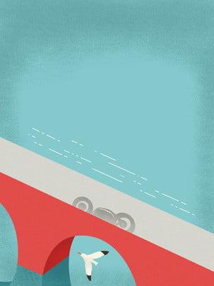 廣告背景 清新 湖面 飛機 , 湖面, 廣告背景, 飛機 背景圖片