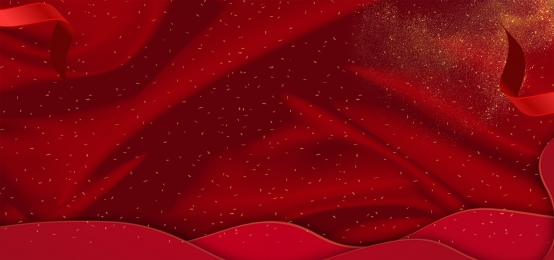 gold dot red background material, Gold Dots, Ribbon, Red Border Background image