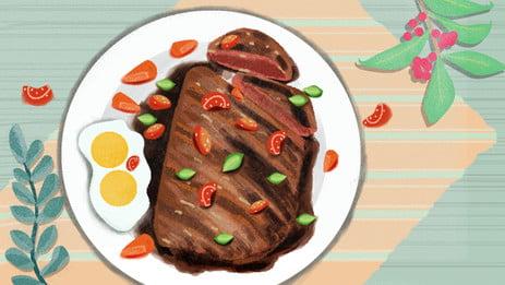 यूनिवर्सल बैकग्राउंड पेटू कट स्वादिष्ट बैकग्राउंड स्टीक इलस्ट्रेशन बैकग्राउंड, पेटू कट, उत्कीर्ण, प्लांट बैकग्राउंड पृष्ठभूमि छवि