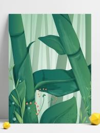 竹葉 植物 綠色 卡通 , 竹葉, 植物, 背景 背景圖片
