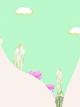 Green cartoon cactus advert background , Green, Cartoon, Cactus Background image