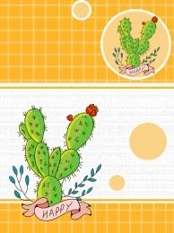 Green cartoon cactus background , Green, Cartoon, Cactus Background image