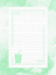 Green small fresh mint leaves border Summer Background Drink Imagem Do Plano De Fundo