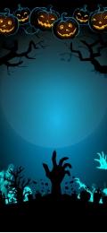 halloween background blue background pumpkin woods , Woods, Halloween, Halloween Background Фоновый рисунок