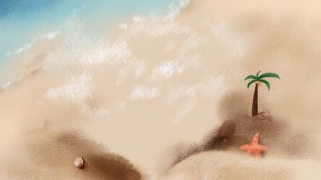 सुंदर गर्मियों की पृष्ठभूमि समुद्र तट समुद्र तट, पृष्ठभूमि पैनल, कोको, रचनात्मक पृष्ठभूमि छवि