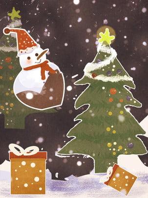 Người tuyết cây Giáng sinh giáng sinh nền người tuyết Người Tuyết Nền Hình Nền