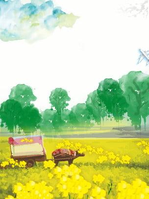 Nền minh họa nền phong cảnh nền hoa rừng Tay Nền Tươi Hình Nền