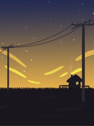 pole background evening background starry sky background summer evening , Hand, Idyllic, Hut Imagem de fundo