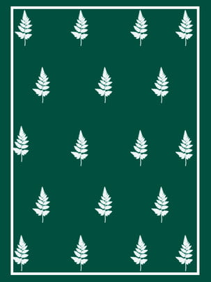green leaves minimalistic border background , Green, Border, Green ภาพพื้นหลัง