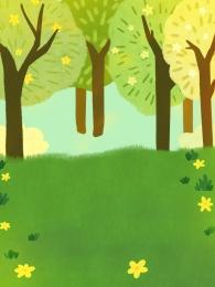 森 草 グリーン 春の背景 広告の背景 背景デザイン 一般的な背景 psdの背景 デザインの背景 背景パネル 背景イラスト 創造的です 新鮮です 手描き春の牧草地の木製の背景デザイン , 手描き春の牧草地の木製の背景デザイン, 森, 草 背景画像