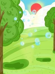 森 春 春 緑 , 春, 緑, 背景パネルの図 背景画像