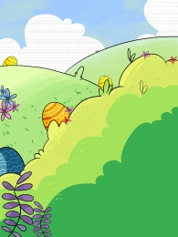 summer outdoor grass green , Advertising Background, Summer, Background Panel Illustration ภาพพื้นหลัง