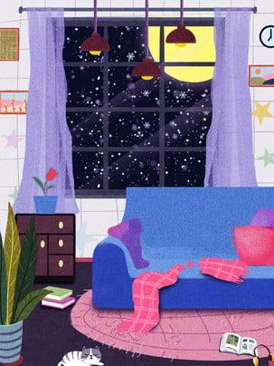 sofa đèn chùm mặt trăng cửa sổ , Tủ, Thiết, Nền Mời Ảnh nền