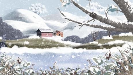 snow mountain snow branches winter, Design, Hand, Creative Imagem de fundo
