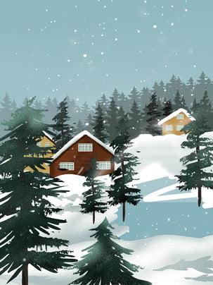 snow snow snow woods , Snow, Special Invitation Background, Village Imagem de fundo