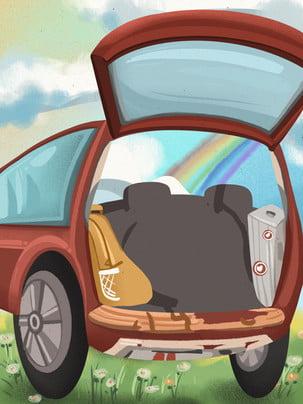 cầu vồng xe hơi tour du lịch tự lái du lịch , Nền, Du Lịch, Nền Ảnh nền