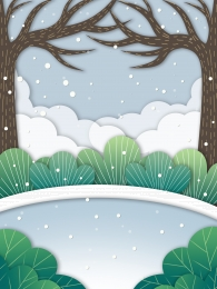 hand drawn watercolor woods snow , Advertising Background, Woods Background, Snow Imagem de fundo