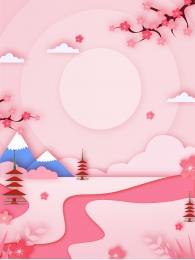 日本文化 ピンクの風景 普遍的な背景 広告の背景 , 広告の背景, 普遍的な背景, 背景素材 背景画像