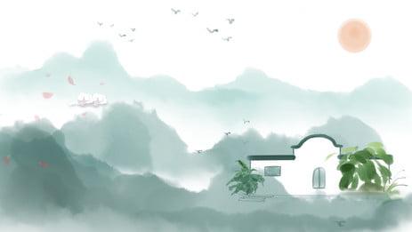 江南風景 房地產展板 背景設計 手繪背景 江南房地產展板背景設計 手繪背景 江南風景背景圖庫