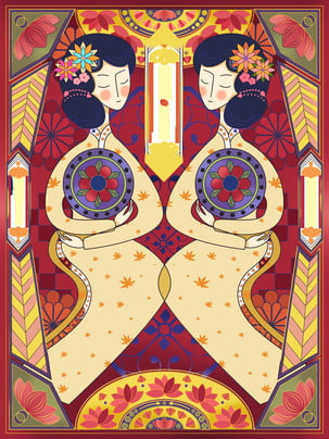 original japonés cosmética retro , Lineal, Horizonte., Background Imagen de fondo