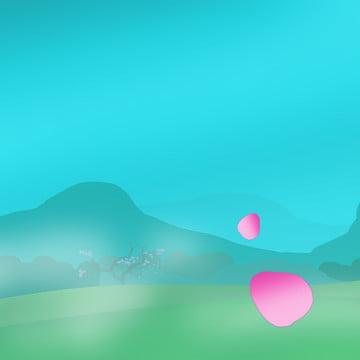 꽃잎 봄 파랑 색조 , 배경, 3, 월 배경 이미지