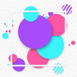 memphis small fresh border round element , Theme, Universal, Background Фоновый рисунок