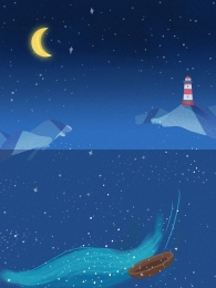 Ocean Starry Background Picture HD JPG Download, Ocean Starry Background Image HD JPG Download, 璀璨 Starry Sky Background Image, 璀璨 Starry Sky, Background image
