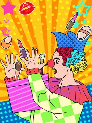 festive background clown april fools day gift , Pop Style, Festive Background, Original Imagem de fundo