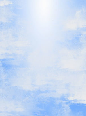 blue sky white clouds blue sky white clouds , Watercolor, Watercolor, Clouds ภาพพื้นหลัง