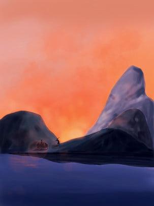 original westward journey mentoring landscape , Landscape, Hand-painted, Hand-painted Imagem de fundo