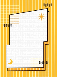 original yellow striped sun and moon shadow creative memphis background , Yellow, Striped Background, Day Background image