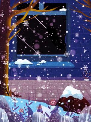 snowing winter snowflake winter , Painted, Winter Background, Promotional Background Imagem de fundo