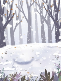 woods winter winter snow , Snowing, Background Illustration, Painted zdjęcie w tle