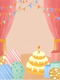 हाथ से चित्रित पृष्ठभूमि गुलाबी पृष्ठभूमि जन्मदिन मुबारक पार्टी पृष्ठभूमि , पार्टी, बधाई, जन्मदिन मुबारक पृष्ठभूमि छवि