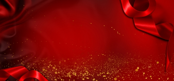 red background with gold dots decoration, Red Ribbon, Gold Dots, Red Silk Background image