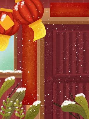 Lantern festive red happy new year Pig Year Material Imagem Do Plano De Fundo