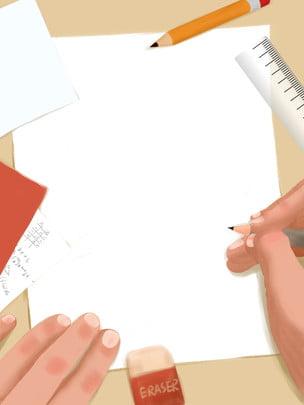 लर्निंग बैकग्राउंड एजुकेशन बैकग्राउंड हैंड पेंटेड बैकग्राउंड स्टेशनरी बैकग्राउंड , प्रारंभिक, स्कूल सीजन प्रमोशन, स्टेशनरी बैकग्राउंड पृष्ठभूमि छवि