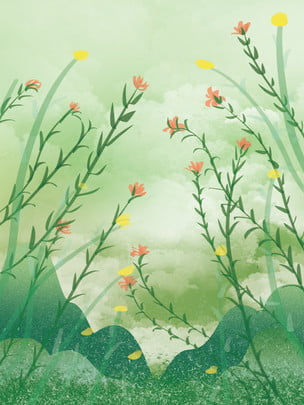 small fresh background plant background botanical flower watercolor background , Fresh, Floral, Watercolor Imagem de fundo