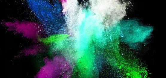 Color spray creative powder Material Creative Splashed Фоновое изображение
