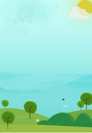 Nền minh họa nền phong cảnh nền hoa rừng Nền Minh Họa Hình Nền